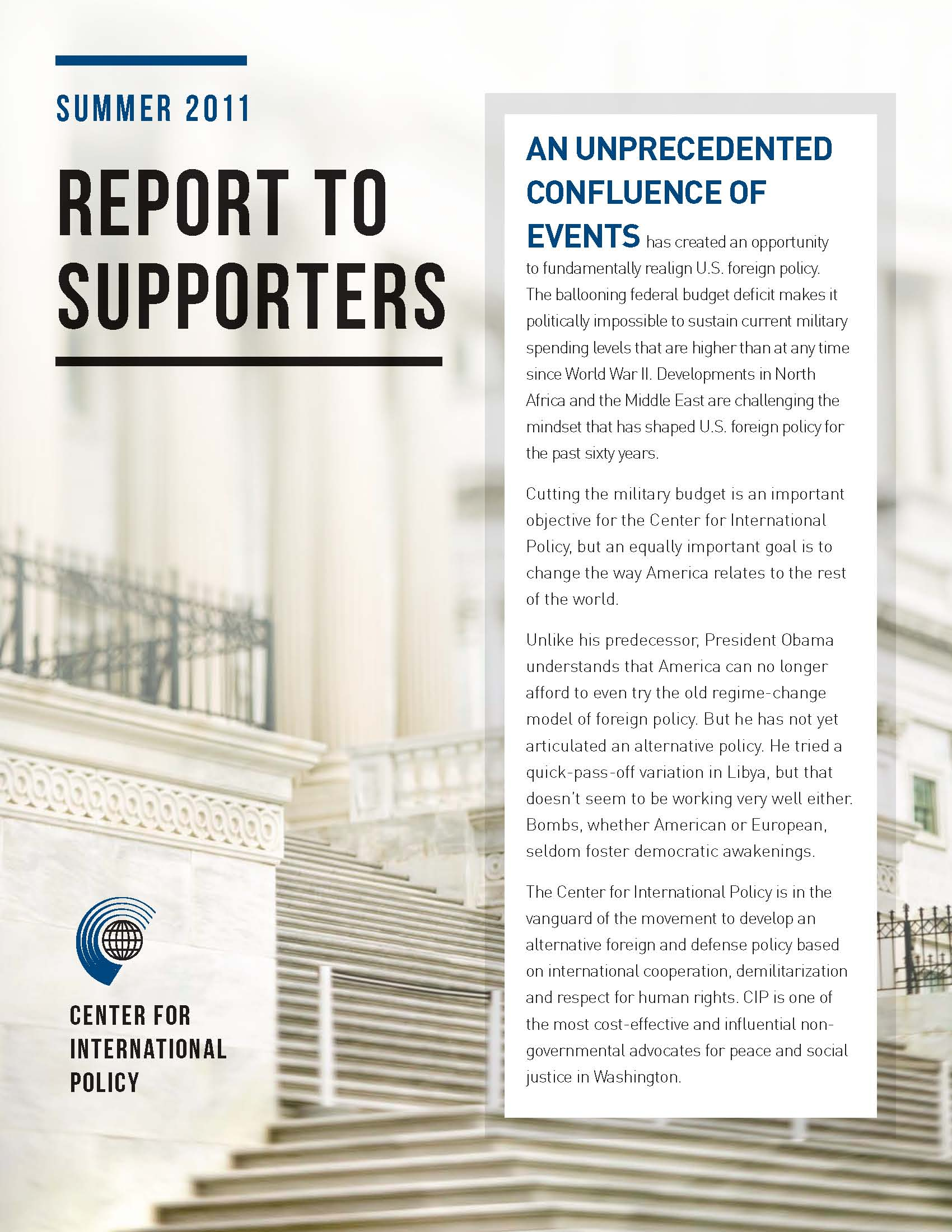 Report to Supporters