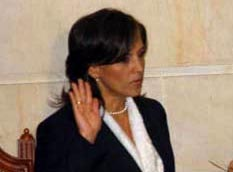 Sen. Nancy Patricia Gutiérrez at her swearing-in