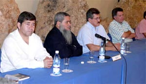 ELN and government negotiators in Havana, October 2006