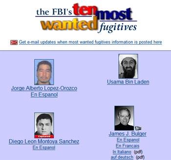 fbi most wanted  drug dealers